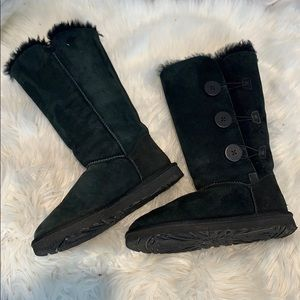 UGGS Black Baily Button Tall boots 1873